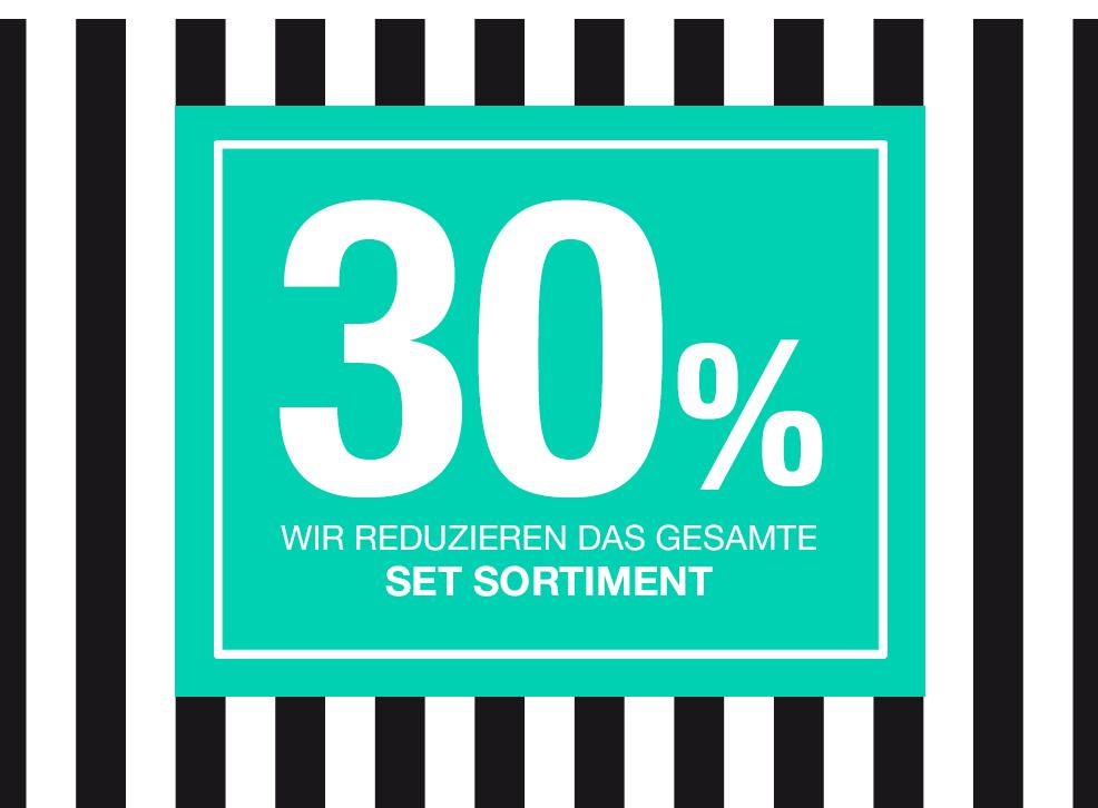 30% Sale auf die gesamte Frühjahrs- und Sommer-SET Kollektion
