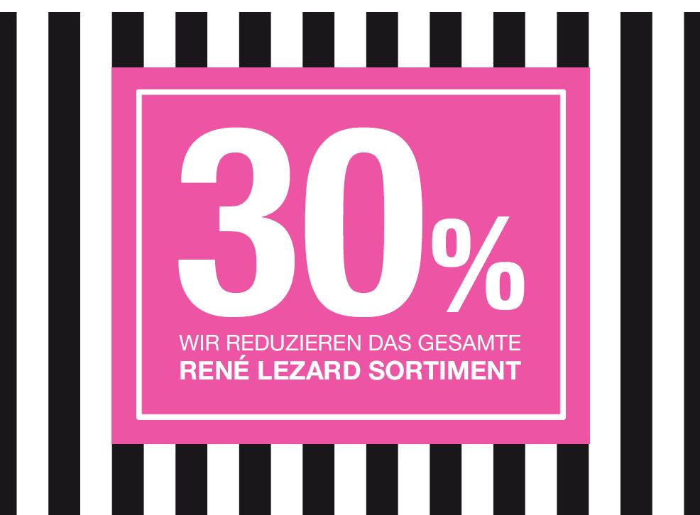 30% Sale auf gesamtes Frühjahrs- und Sommer- RENÉ LEZARD Sortiment